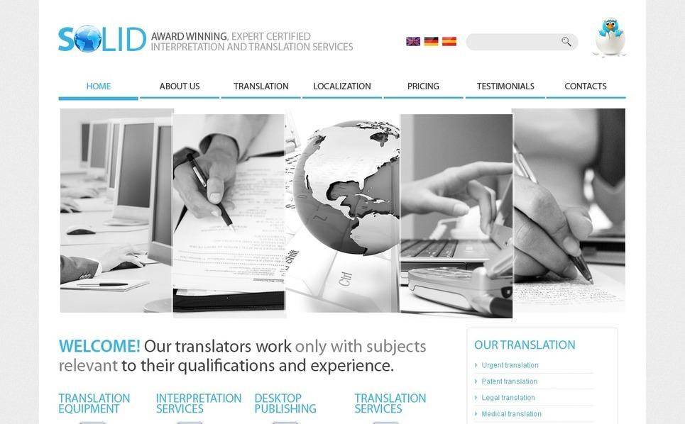Translation Bureau Website Template New Screenshots BIG
