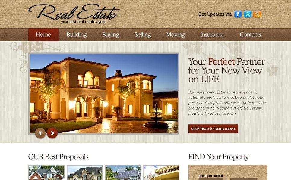Real Estate Agency SWiSH Template New Screenshots BIG