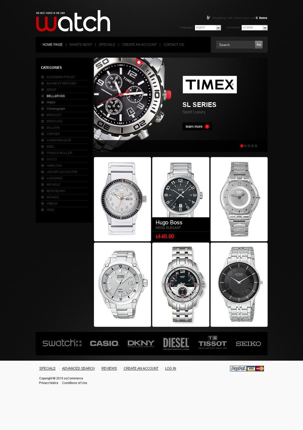 Shiny Black Wrist Watch Template