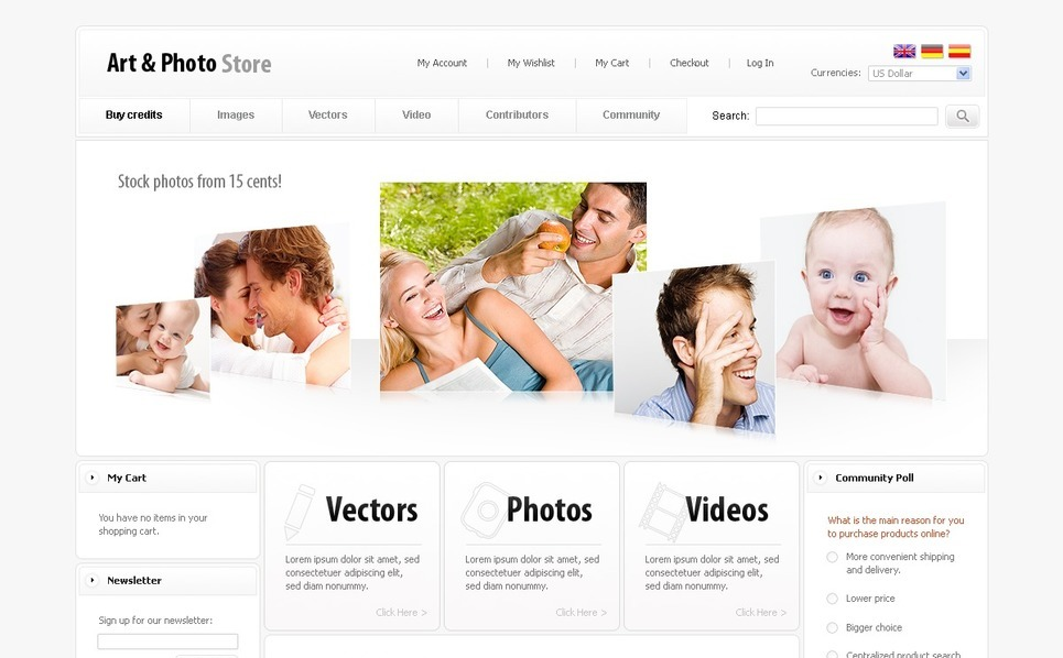 Art Store Magento Theme New Screenshots BIG