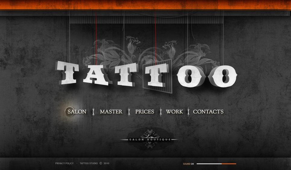 Tattoo Salon Flash Template New Screenshots BIG