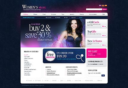 Women's store - Astounding Magento Lingerie Store Template