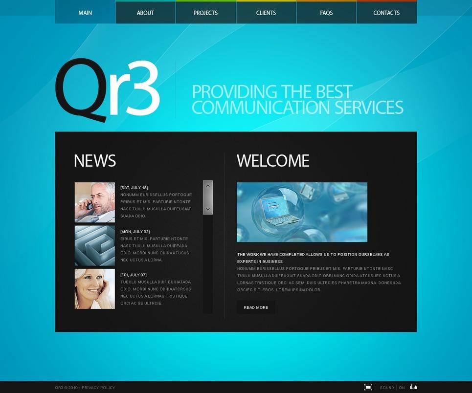 Communications Flash Template New Screenshots BIG