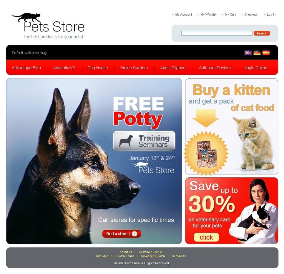 A Professional Pet Shop Magento Theme