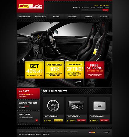 Car audio - Stylish Car Audio Magento Theme