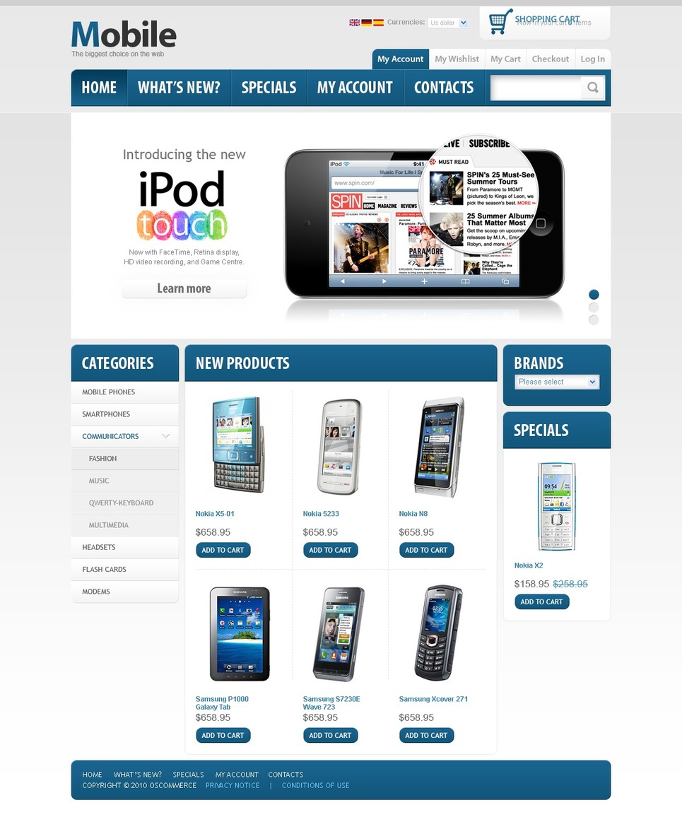 Professional Looking Mobile Store Template 2