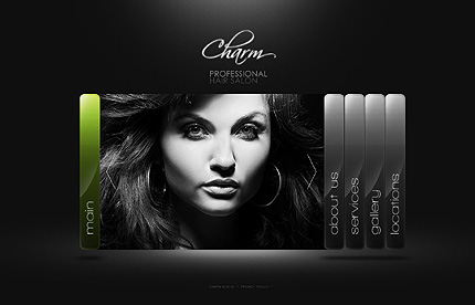 Hair Salon Websites : Hair Salon Website Template Page 1 Photoshop screenshot