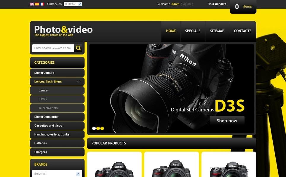 Shiny camera store PrestaShop Theme New Screenshots BIG