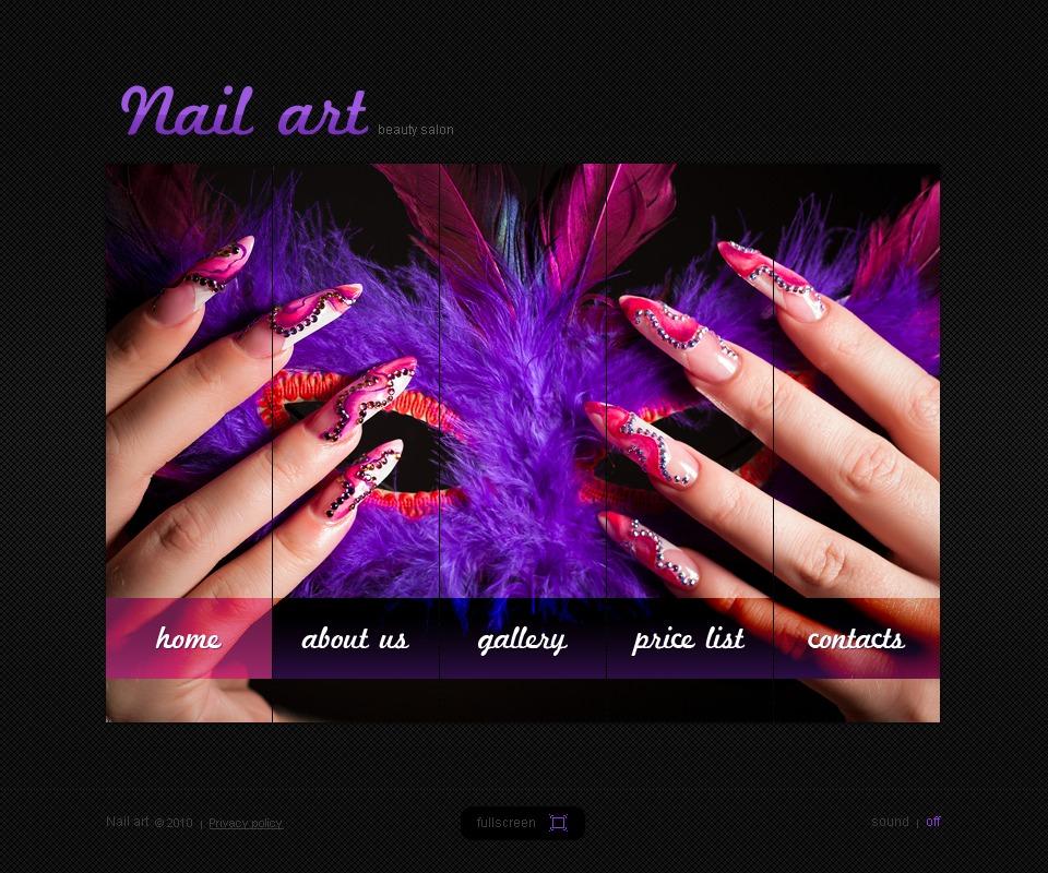 Nail Salon Flash Template #31599