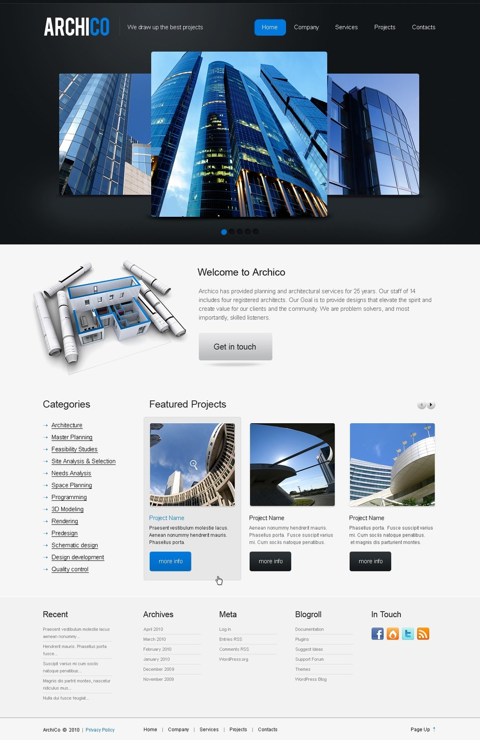 Architecture WordPress Theme New Screenshots BIG