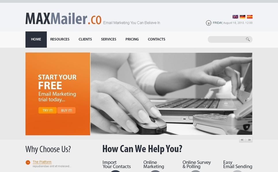 Marketing Agency Website Template New Screenshots BIG