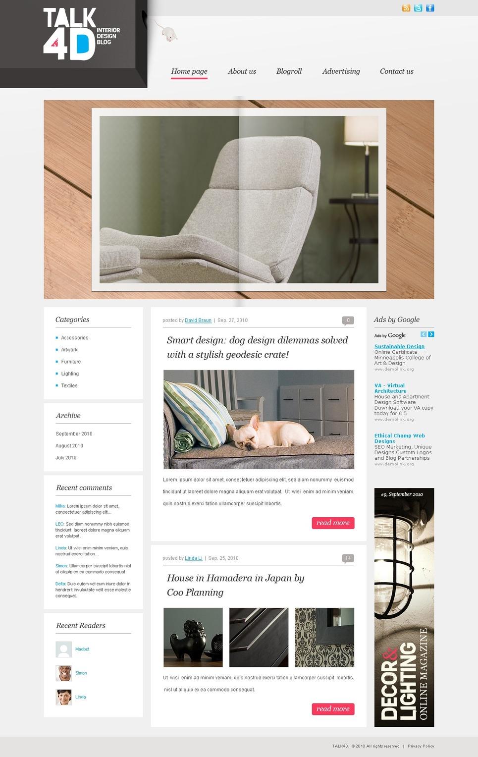 Interior Design Wordpress Theme 31783