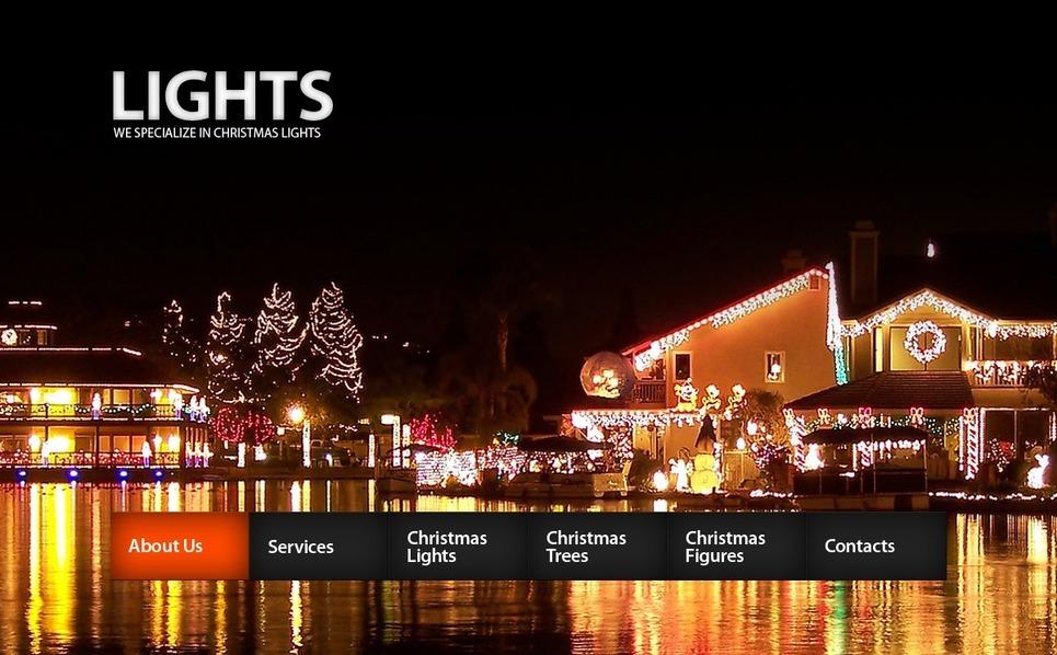 Christmas Website Template New Screenshots BIG