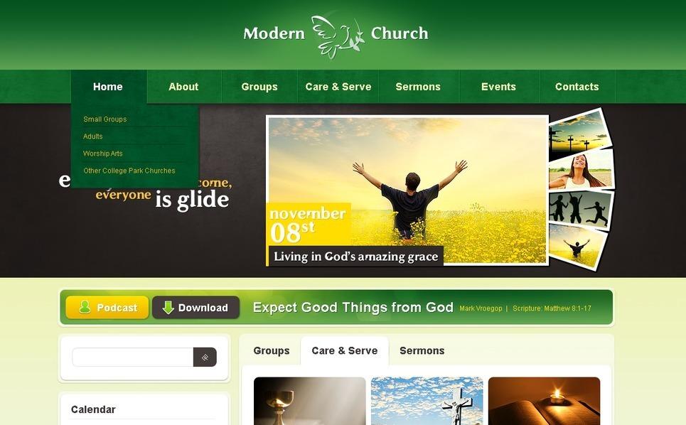 Religious Joomla Template New Screenshots BIG