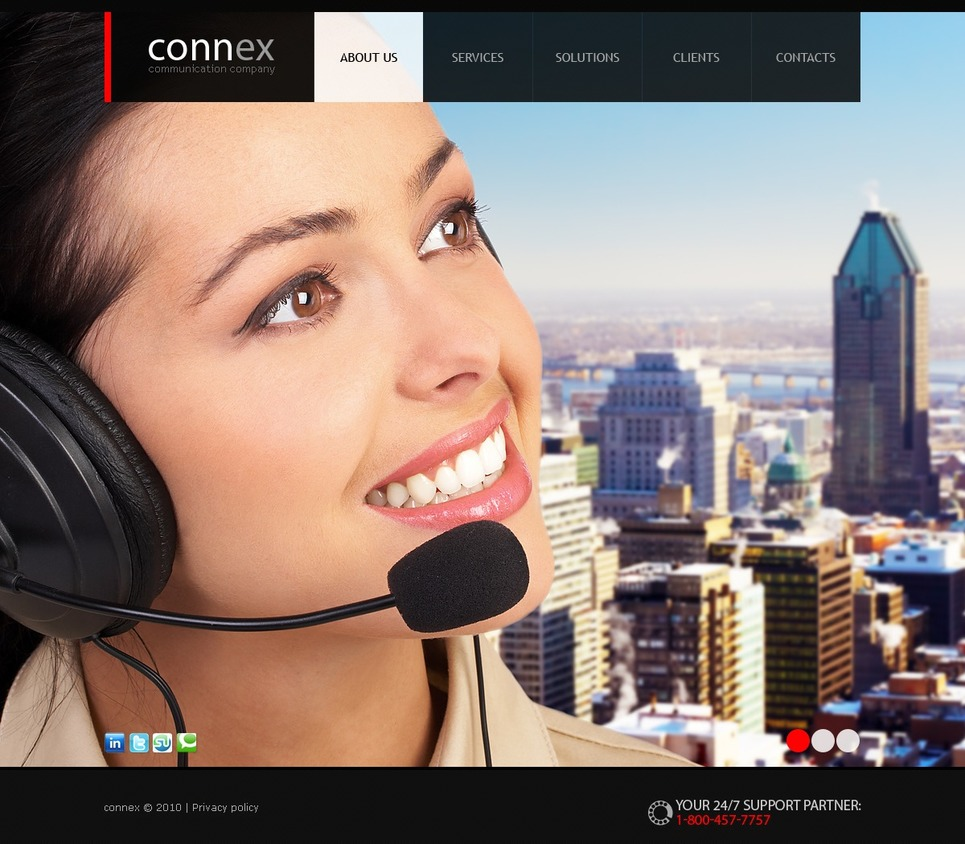 Communications Website Template New Screenshots BIG