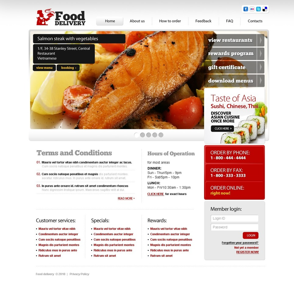 Food Store Website Template New Screenshots BIG