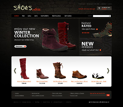 Shoes store - Best Footwear Store Magento Template