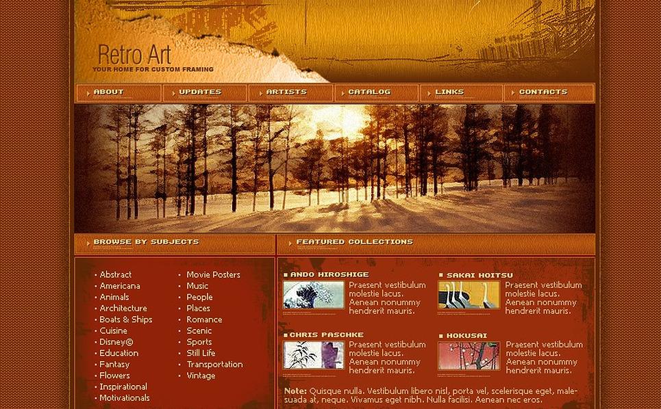 Art Store Website Template New Screenshots BIG