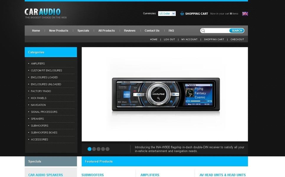 Car Audio ZenCart Template New Screenshots BIG