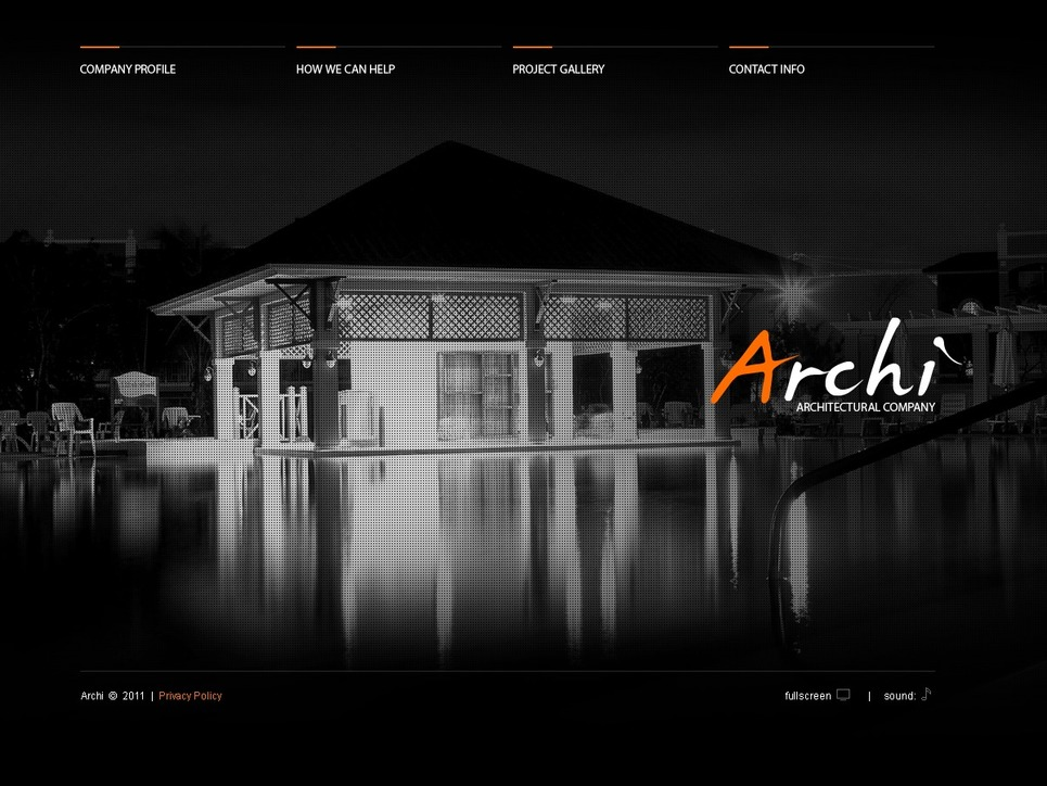 Architecture Flash CMS Template New Screenshots BIG