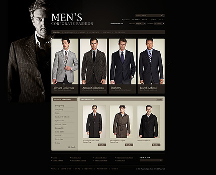 Men's corporate fashion - Ultra Modern Apparel Magento Theme