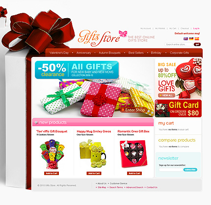 Gift store – 50% clearance Sale