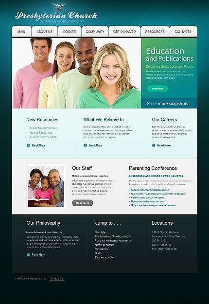 Заказ создания сайта или интернет магазина на тему Религия, jQueryшаблоны, HTML 5, на основании шаблона №32149.