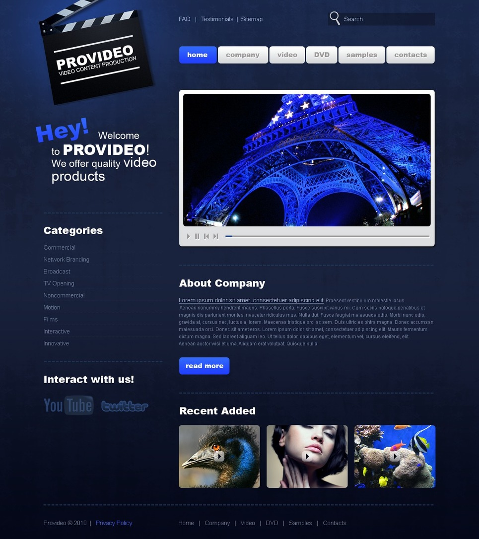 Video Lab Website Template New Screenshots BIG