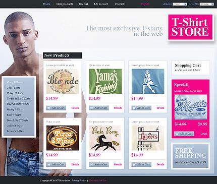 Заказ создания сайта или интернет магазина на тему Интернет магазины, Мода, на основании шаблона №32209.