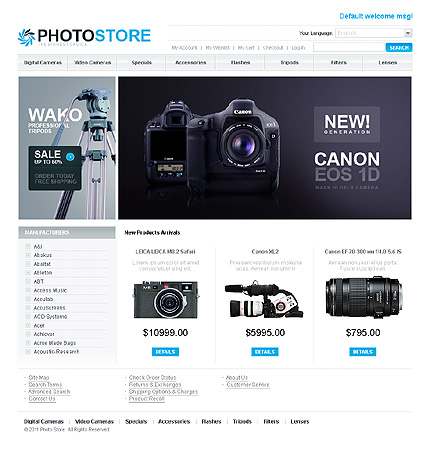 Photo store - Fascinating Electronic Store Magento Theme