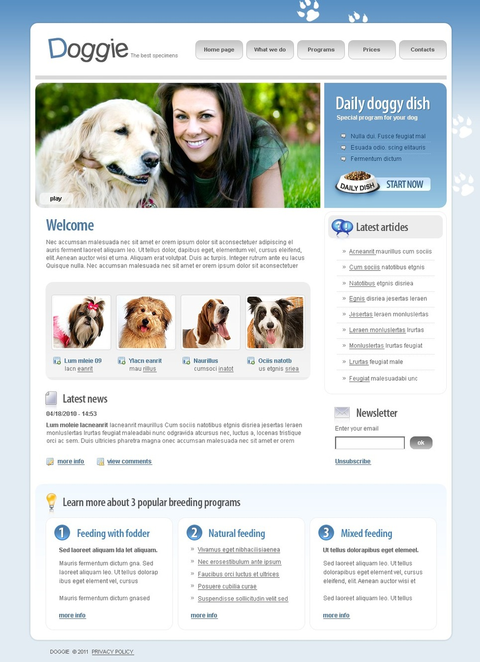 Dog SWiSH Template New Screenshots BIG