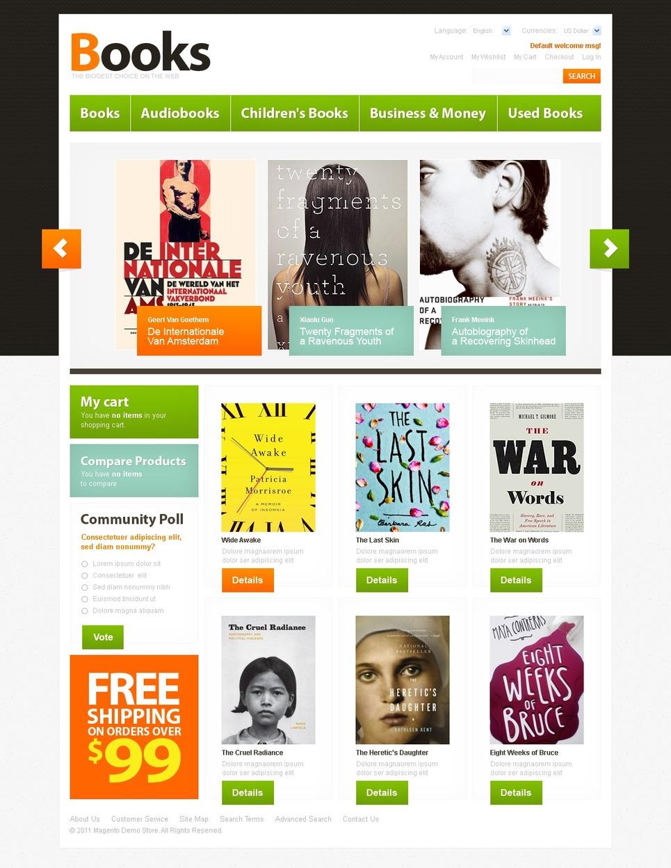 Topmost Book Store Magento Theme
