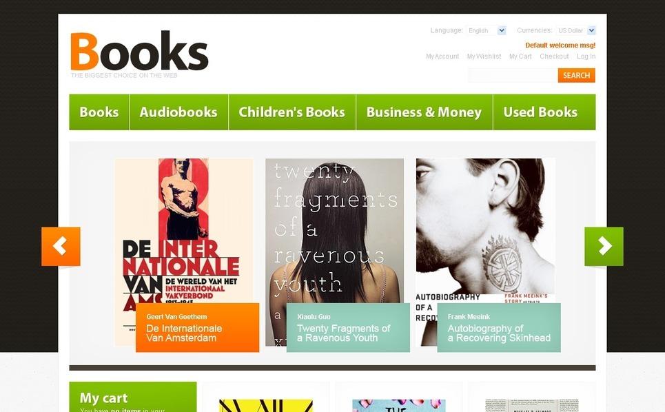 Book Store Magento Theme New Screenshots BIG