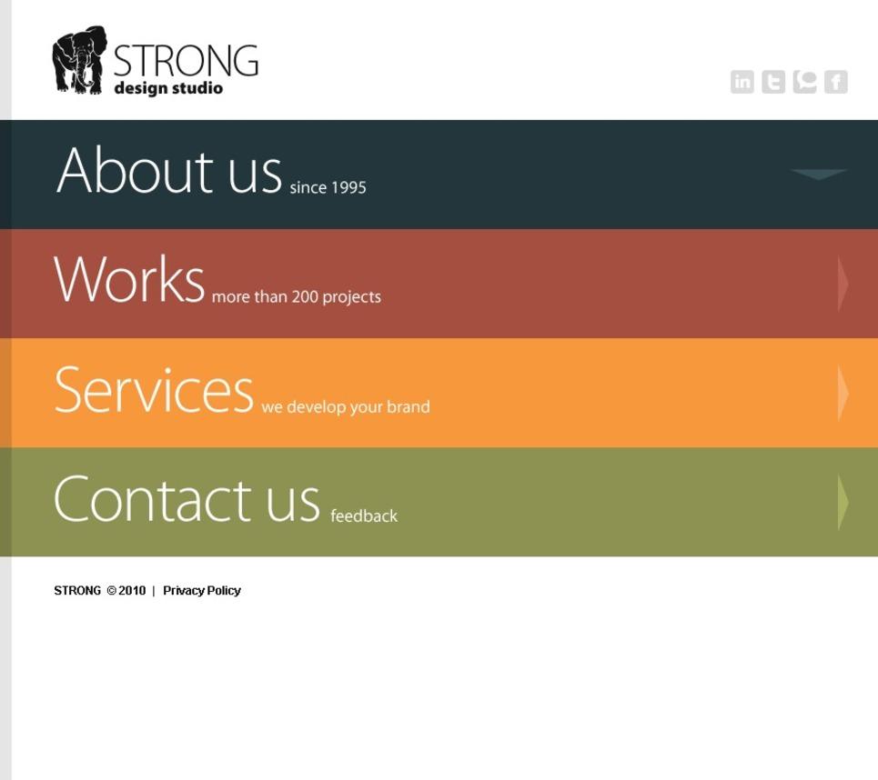Modello siti web per un sito di design studio for Miglior design di siti web di mobili