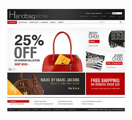 Заказ создания сайта или интернет магазина на тему Интернет магазины, Мода, на основании шаблона №32287.