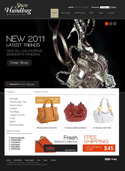 Заказ создания сайта или интернет магазина на тему Интернет магазины, Мода, VirtueMart шаблоны, jQueryшаблоны, на основании шаблона №32291.