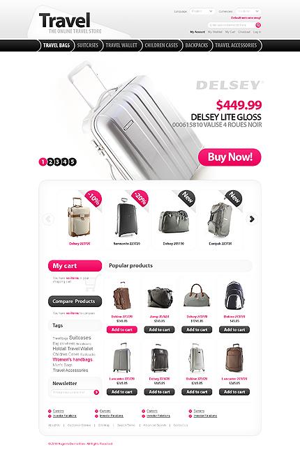 Заказ создания сайта или интернет магазина на тему Путешествия, Интернет магазины, Мода, jQueryшаблоны, на основании шаблона №32308.