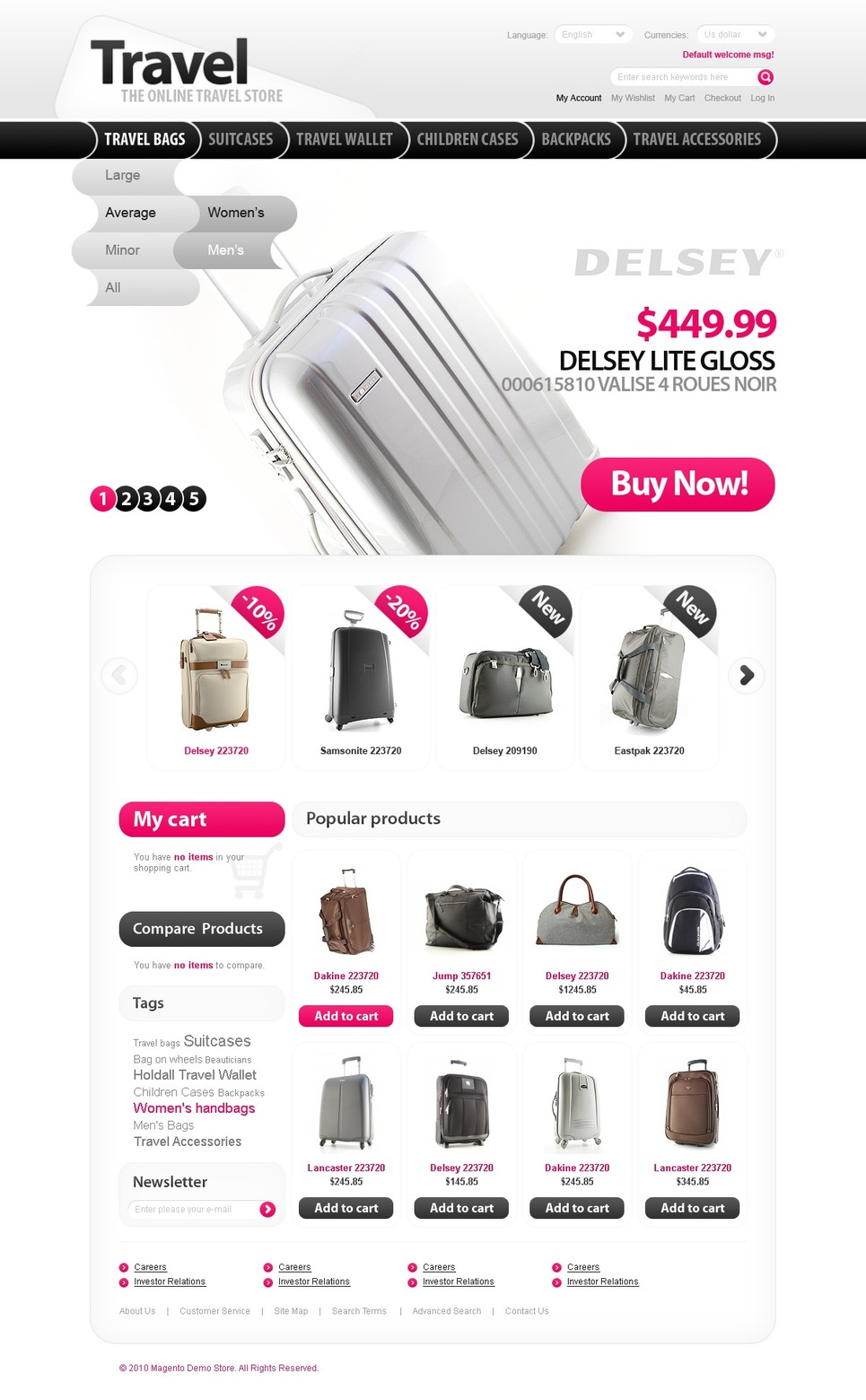 Handbag Magento Theme New Screenshots BIG