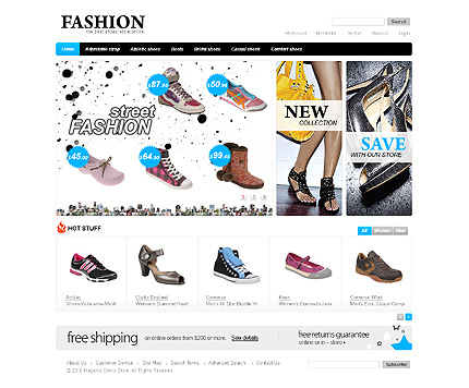 Fashion - Perfect Footwear Store Magento Template