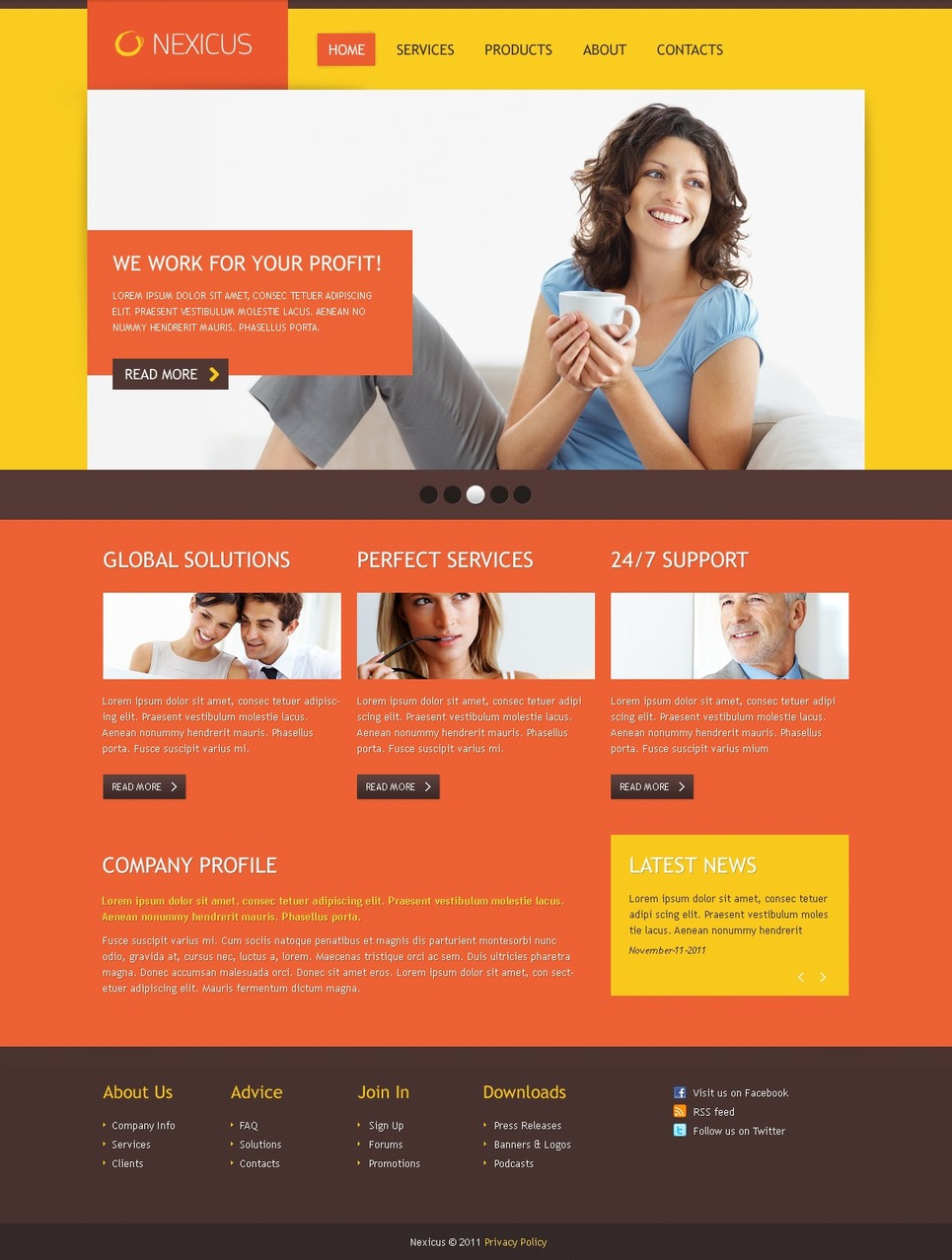 Business Razor Template New Screenshots BIG