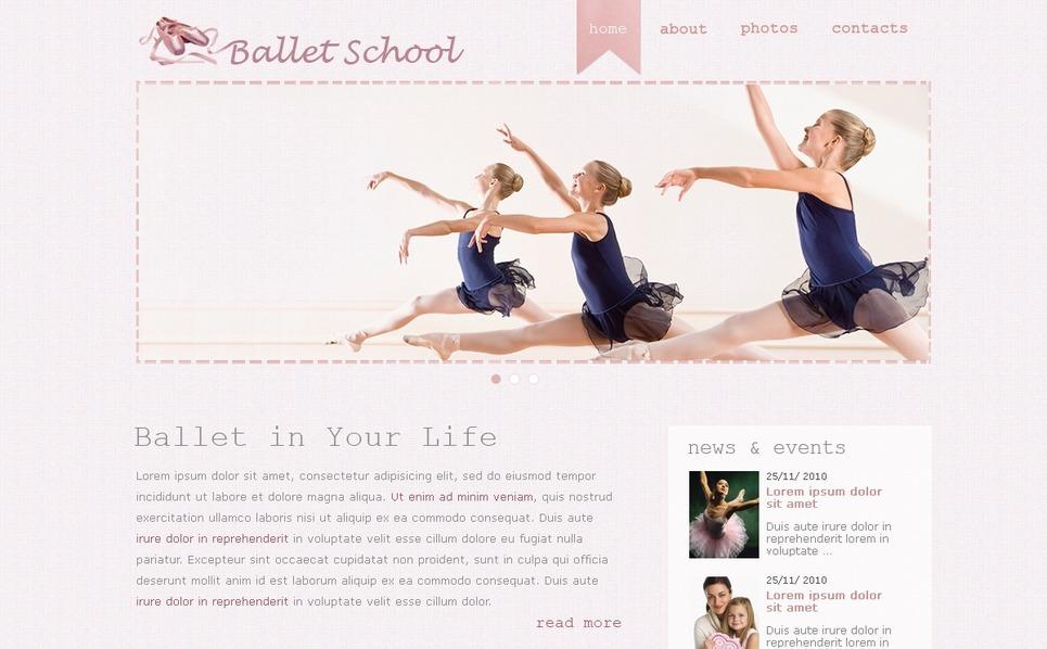 Dance Studio Website Template New Screenshots BIG
