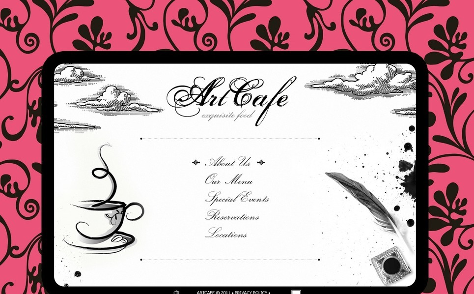 Cafe Flash Template New Screenshots BIG