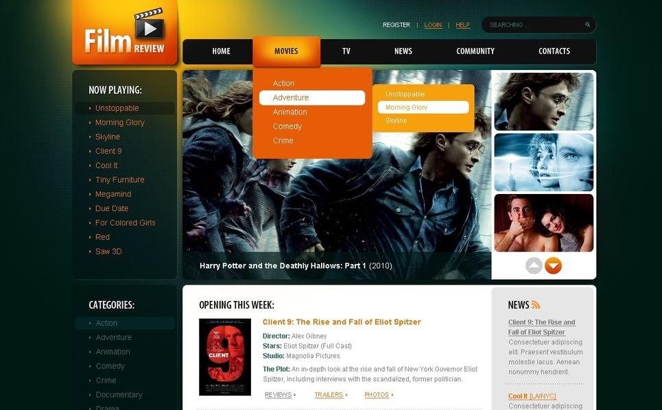 Movie Website Template New Screenshots BIG