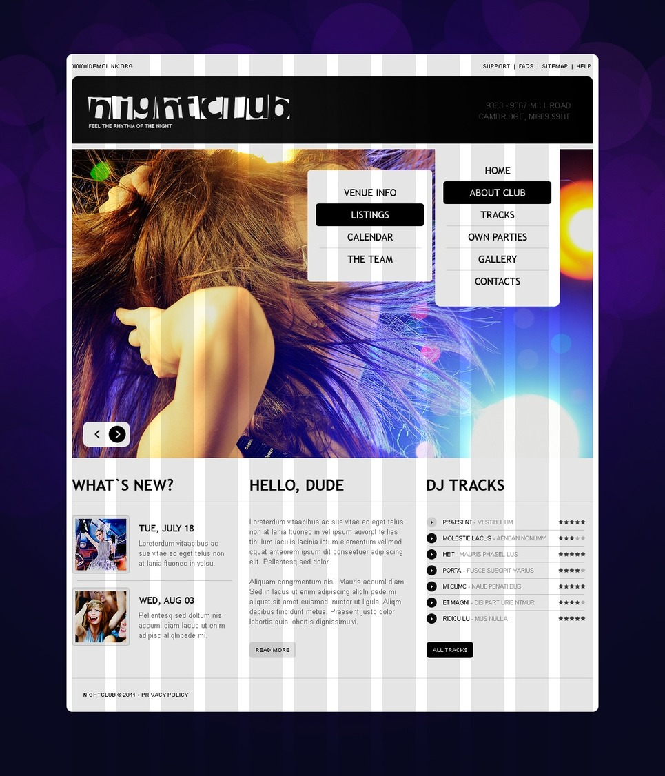 Night Club Website Template New Screenshots BIG