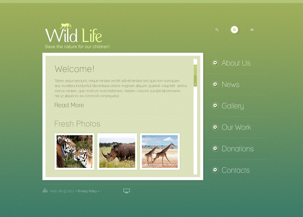 Wild Life Flash Template New Screenshots BIG