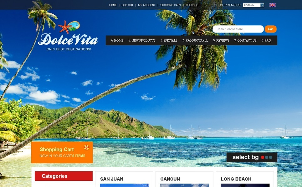 Travel Agency ZenCart Template New Screenshots BIG