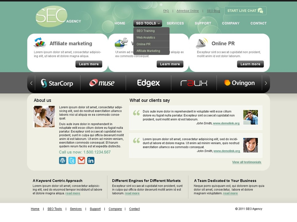 SEO Website Joomla Template New Screenshots BIG