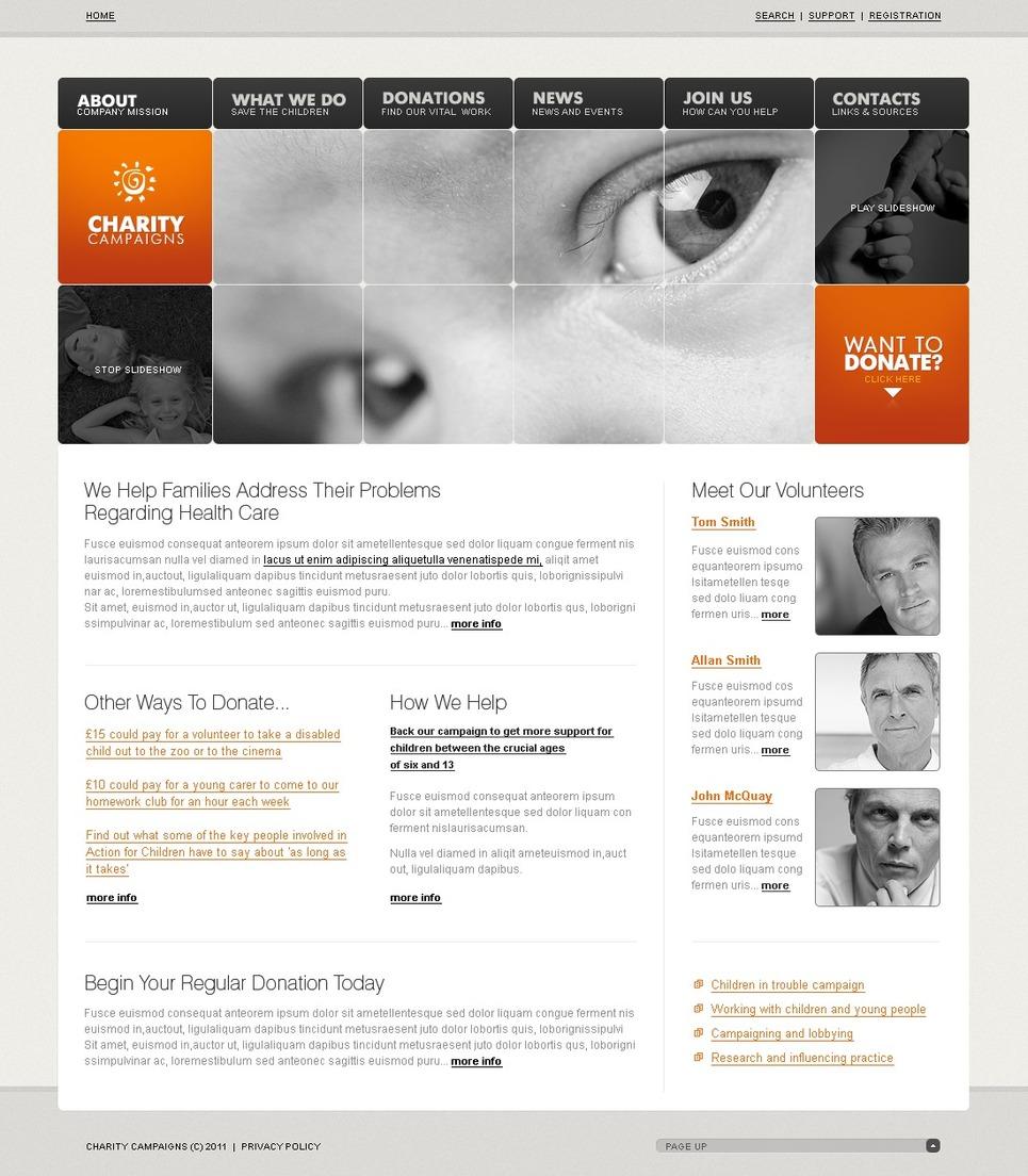 Charity SWiSH Template New Screenshots BIG