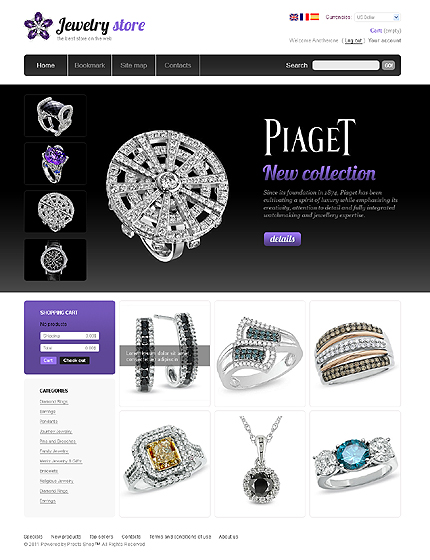 Piaget - Luxurious Online Jewellery Store PrestaShop Theme