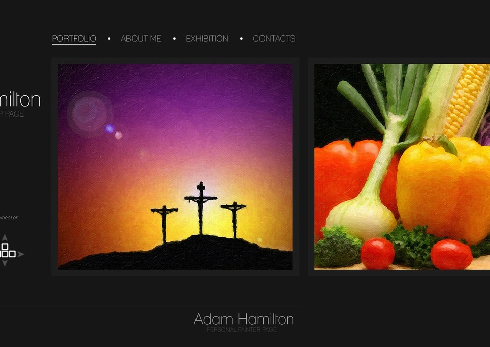 Artist Portfolio Website Template New Screenshots BIG